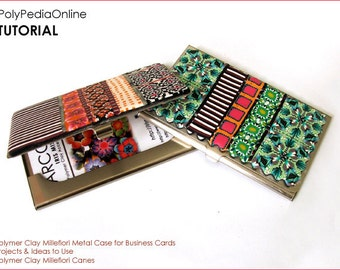 Polymer clay tutorial, Business card case, Millefiori cane tutorials, Use Millefiore canes, How to polymer clay | 15 pages PDF | Vol 23