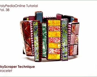 Polymer clay tutorial, Liquid polymer clay tutorial | SKYSCRAPER | Necklace tutorial, Bracelet, Brooch Projects | PDF, Video | Vol 38