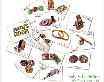 Polymer clay tutorials, Millefiori canes tutorials, Polymer clay gifts, How to polymer clay, DIY | 12 Projects, 3 Videos | CD, FREE Shipping