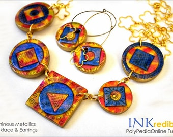 Polymer clay tutorial, Alcohol ink tutorials, Polymer clay jewelry | INKREDIBLE | Necklace, Pendant Jewellery ink class, 2 Videos | Vol 42
