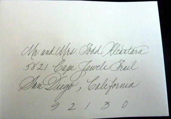 Handwritten envelopes calligraphy