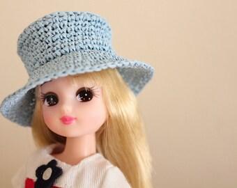 Raffia Sun Hat for 1:6 Dolls
