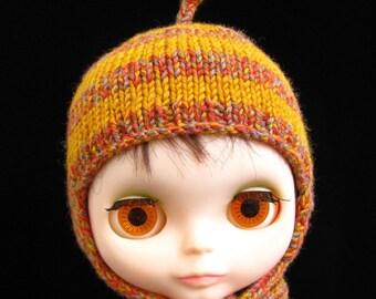 Handknit Bobble Hat For Blythe