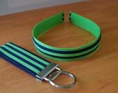Headband and Key Fob Set - Preppy Stripes (1)