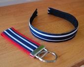 Headband and Key Fob Set - Preppy Stripes (7)