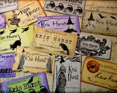 Personalized Halloween calling cards download