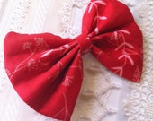SALE was 8.00 now 6.00 - hair BOW - scarlet red angelica
