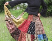 Patchwork Skirt  Handmade FREE SIZE to 20