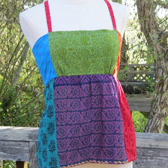"Womens And Juniors Rainbow Apron Top Extra Small 31""-33"" bust"