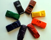 Car Crayons Made from Recycled Crayons