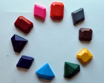 Jewel Molded Crayons Made from Recycled Crayons