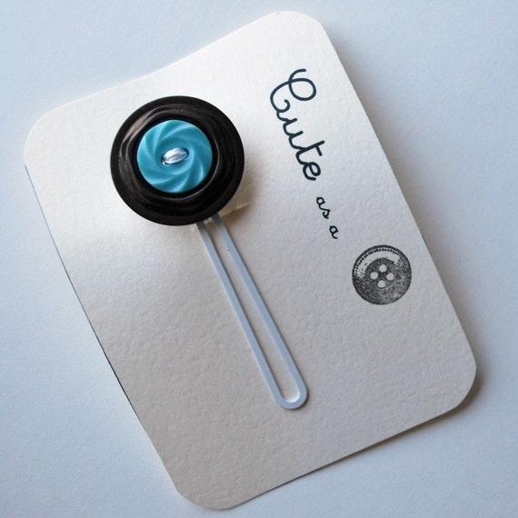 Cute as a Button--VIntage Button Hair Pin