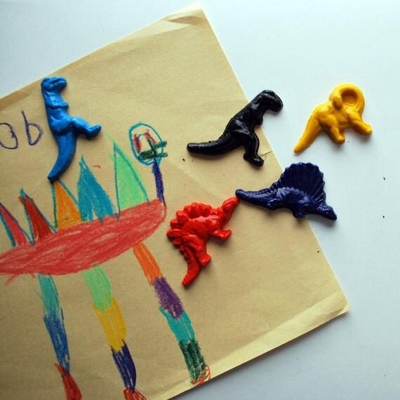 Dinosaur Crayons Made from Recycled Crayons