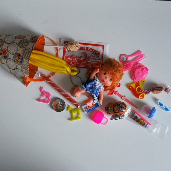 SALE--Kiddie Cone--Filled with VIntage Dimestore Toys for Girls