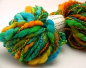 Dr. Fate -- handspun thick and thin -- organic merino wool