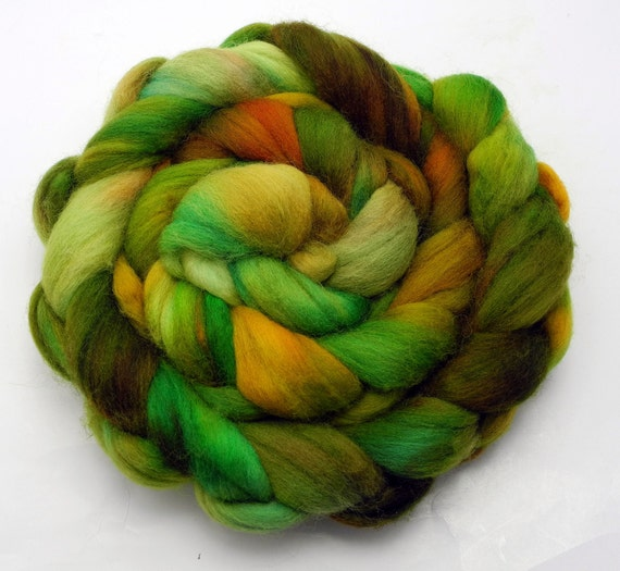 Hand dyed Falkland wool top