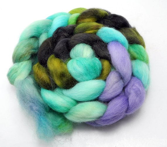SALE Carnivale on alpaca top -- (hand dyed roving)