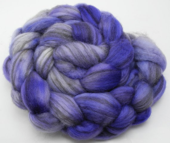 RESERVED FOR LC --  Hand dyed roving (hand dyed combed top) - mixed bfl wool