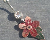 Floral Circuit Charm - belly ring