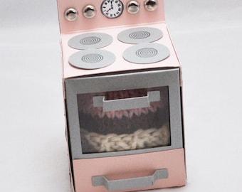Cupcake Pincushion in Retro Oven Box