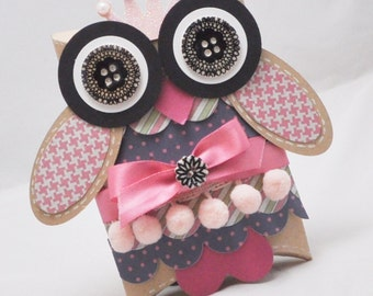 Owl Favor Box - Gift Box - Gift Card Holder