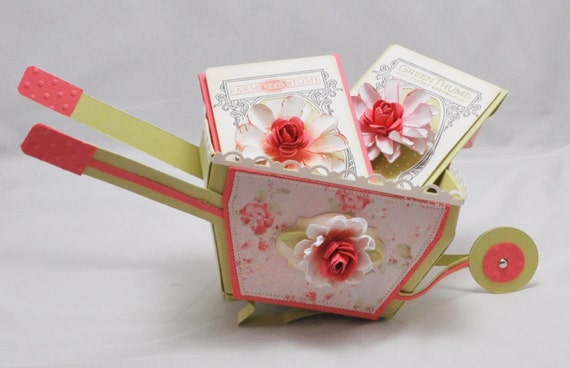 Wheelbarrow Gift Box With 2 Seed Packet Gift Card Holders