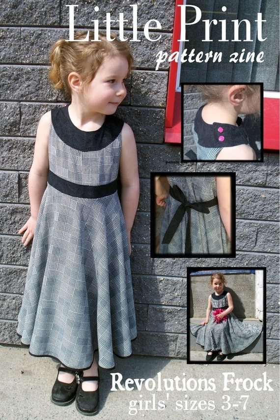 Revolutions Frock PAPER PATTERN for girl