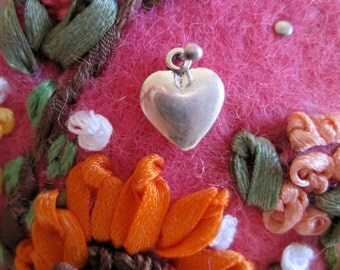 Sterling Puffed Heart Charm