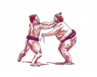 Red Sumo // Limited Edition Archival Print