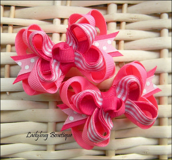 Mini Boutique Hair Bow Set - Pretty in Pink