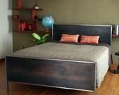Steel Panel Bed - Platform Queen Size