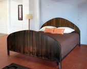 Steel Arch Bed with Wood Finish in King Size