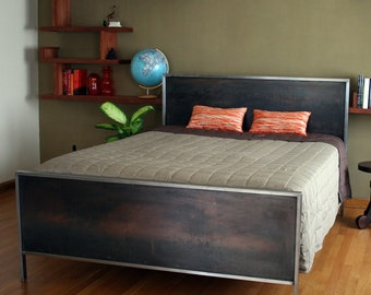 Steel Panel Bed - Platform King Size