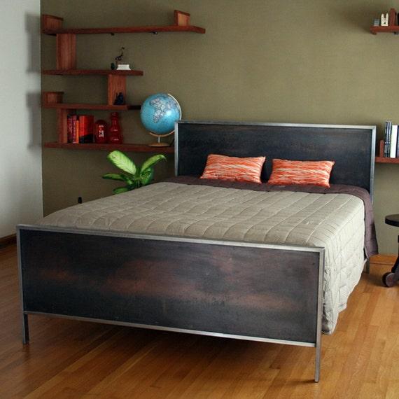 Steel Panel Bed - Platform King Size