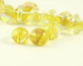 10mm Unicorne Tear Drop Lampwork Beads - Electric Dandelion - 4 Pieces - 22005