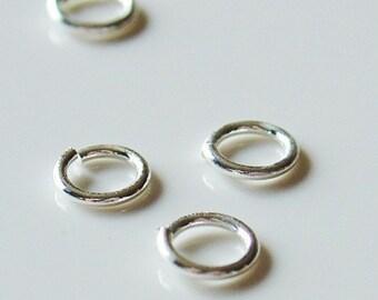 6mm Silver Color Jump Rings - Nickel Free - 100 Pieces - 0302-SL