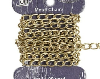CLEARANCE      7mmx4mm Brass Chain - Lead and Nickel Free - 1 metre/approximately 3.28 feet - 0302h