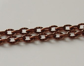 5mm x 3mm Antique Copper Cable Chain - 3 Feet - 0436-OXCO