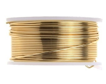 22 Gauge Lead and Nickel Free Artistic Wire - Non-Tarnish Brass -  15 yards - 1111