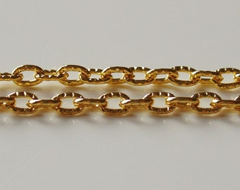 5mm x 3mm Gold  plated Cable Chain -6 Feet - 0436-GL