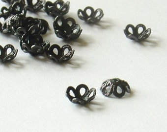 4mm Black metal  Bead Cap 2500   Pcs - 1000