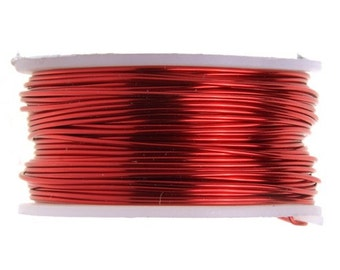 22 Gauge Lead and Nickel Free Artistic Wire - Red -  15 yards - 1108