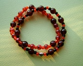 SALE Double Burgundy and Red Hope Cancer Awareness Bracelet - 100% donation