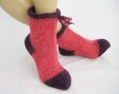 Felted Knit Slippers Size 8 or 9.