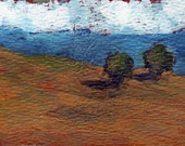Landscape - Original ACEO Acrylic Painting