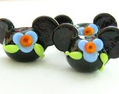 Reserved **** Aloha Minnie Mouse disney inspired Lampwork glass beads by Marianna