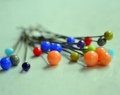 Set of 6 lampwork glass bead headpins...you pick the colors... handmade lampwork glass beads by Marianna