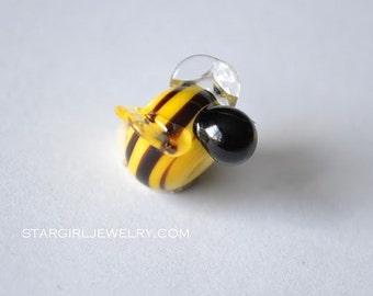 Bumble Bee glass bead...handmade lampwork glass beads by Marianna