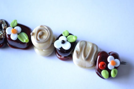 Glass chocolate beads, Sweet Tooth a chocolate lovers guiltless pleasure