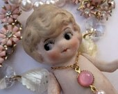 The Fairy Child - A Vintage Bisque Doll Necklace RESERVED FOR IAMTHEQUEENOFHEARTS